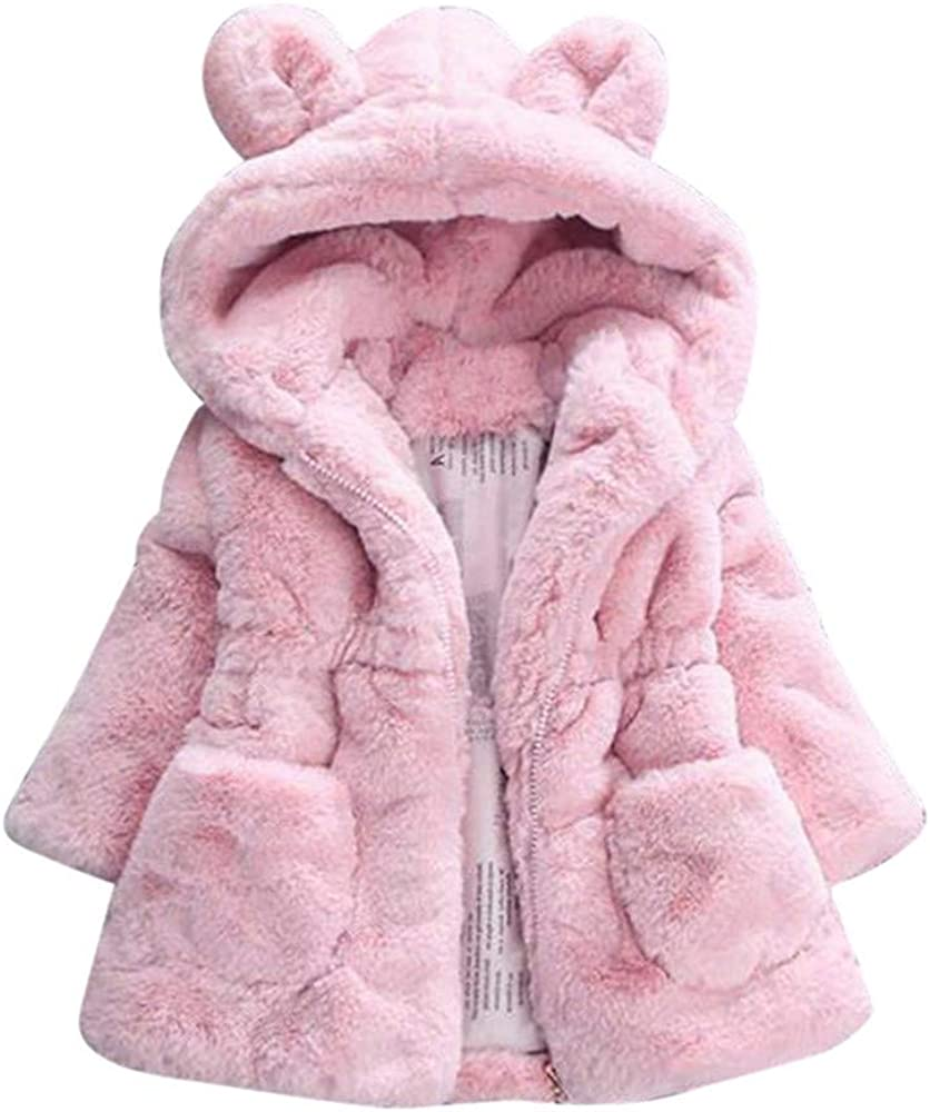 Girls Coat Hotsellhome New Kids Baby Girls Bunny Winter Hooded Coat Cloak Jacket Warm Outerwear Clothes Gift