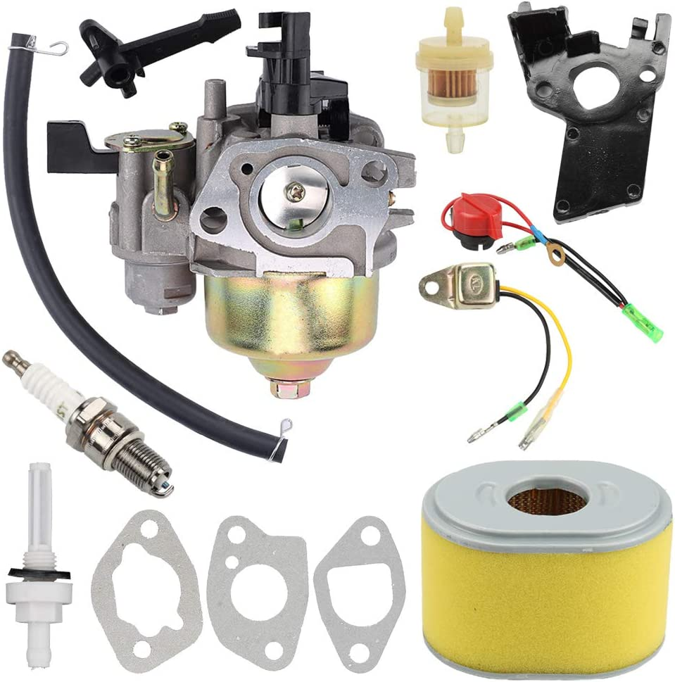 GX200 GX160 Carburetor with Air Fuel Filter Tune Up Kit for Honda GX120 GX160 GX200 5.5HP 6.5 HP Engine Replaces# 16100-ZH8-W61