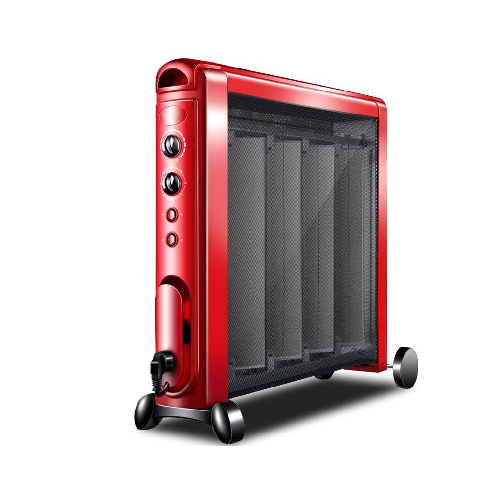 Acquisto GYH Riscaldatore Elettrico Mica Pannello Riscaldatore a convezione 2 Alimentatori Protezione surriscaldamento Verticale 2100W Rosso (#) Prezzi offerte