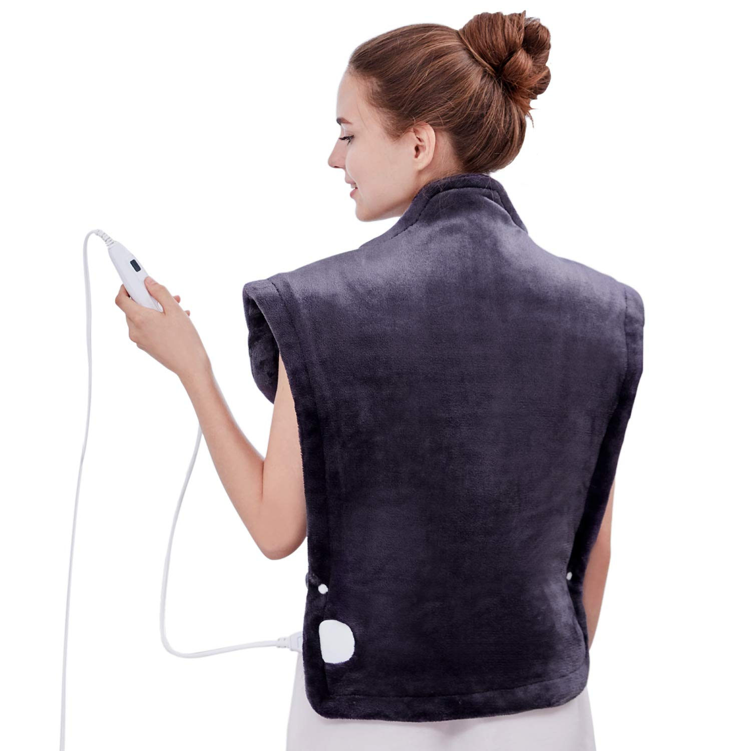 Utaxo Heating Pad Wrap, for Neck Shoulders Whole Back Pain Relief, Soothing Muscle Pain and Tension Relief Therapy, 6 Electric Temperature Options, 25 x 32'', XXX-Large by Utaxo