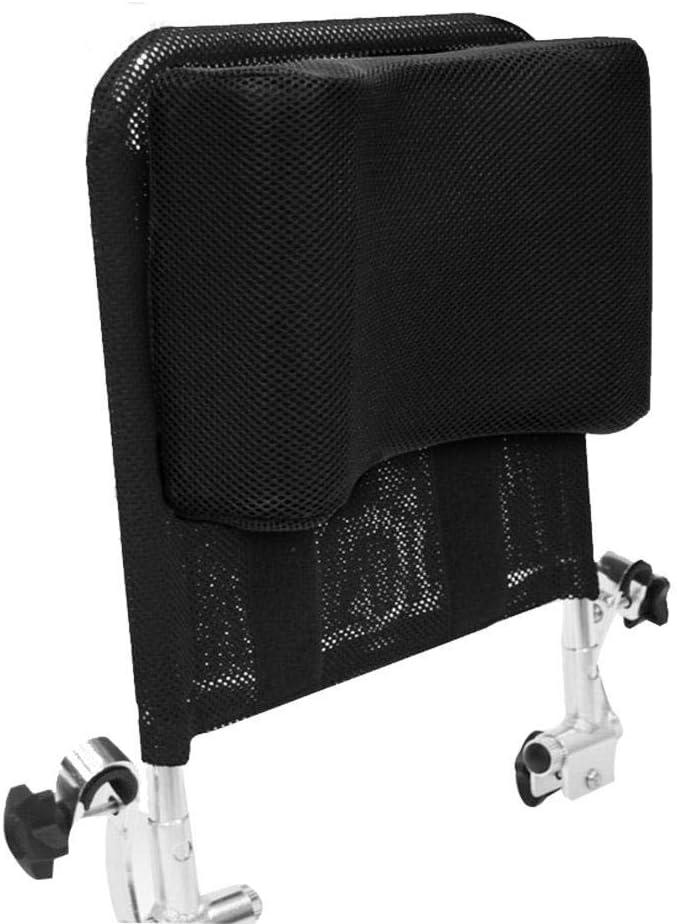 Juanya Almohada ajustable para reposacabezas de silla de ruedas con tubo de mango trasero, soporte para el cuello de 16 a 20 pulgadas, color negro