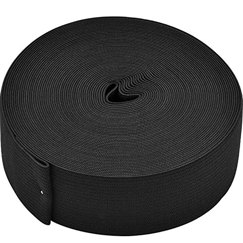 eBoot Black Elastic Spool (1.5 Inch x 11 ()