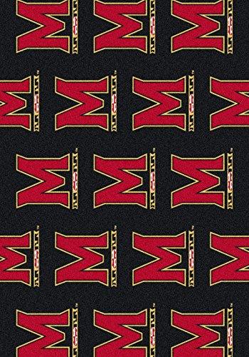 Maryland Floor - American Floor Mats Maryland Terrapins NCAA College Repeating Team Area Rug 10'9