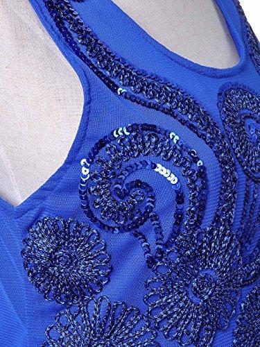 Corde Mini Anna Stlerische Party Femme Ray Sun Robe Détail Sequin Fleur kaci Cwx06aUwq