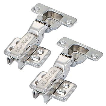 SDPAWA Bisagra para puerta de armario con amortiguador hidráulico 304 de acero inoxidable cierre suave bisagras fijas 2 piezas: Amazon.es: Bricolaje y ...