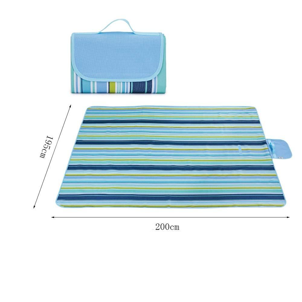 LISAWEI Picknickdecke Im Freien Wasserdicht Und Und Und Feuchtigkeitsfest Teppich Tragbarer Strand Rasen Verdickung Reiseauflage (Farbe   I, größe   195x200cm) B07QBFJQ3P Picknickdecken Leitende Mode 790fd9