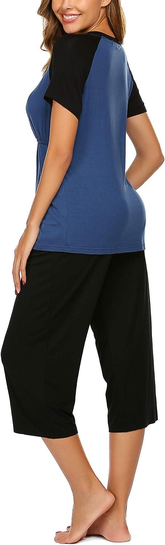 con scollo a V Unibelle in cotone pigiama da allattamento autunno//inverno