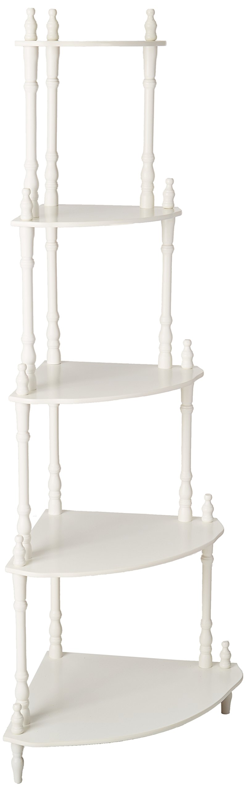 Frenchi Furniture - 5-Tier Corner Stand Finish: White by Frenchi (Image #2)