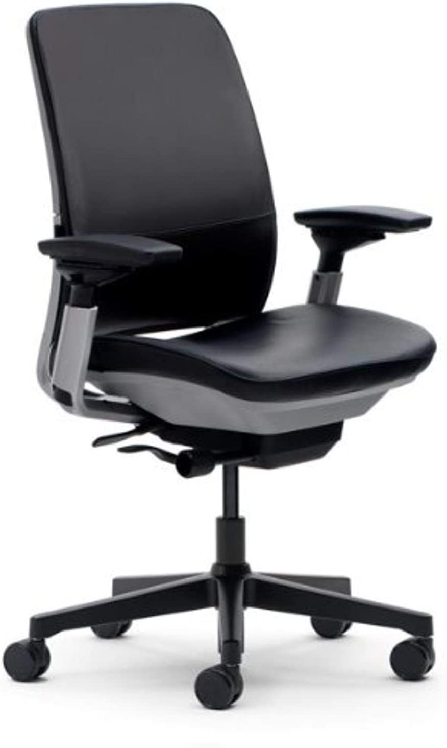 Amazon.com: Steelcase Amia Black Leather Chair: Kitchen & Dining