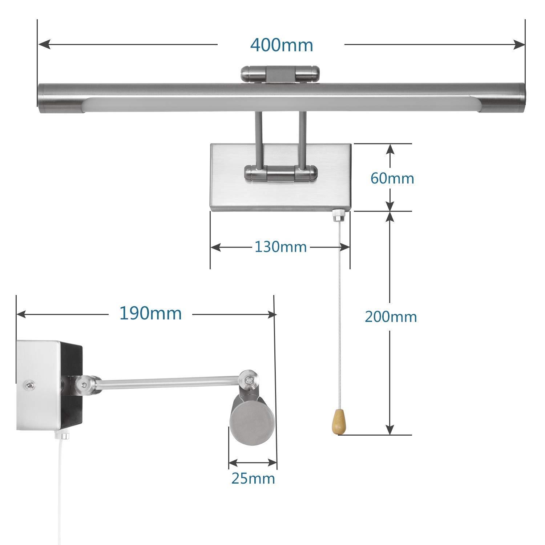 MantoLite LED Lampade da Parete per Quadri,8W 3000K Camera da Letto Illuminazione per Interni con testa Girevole e Interruttore,Specchio Bagno Illuminazioni per Pareti Lampade da Comodino Bronzo