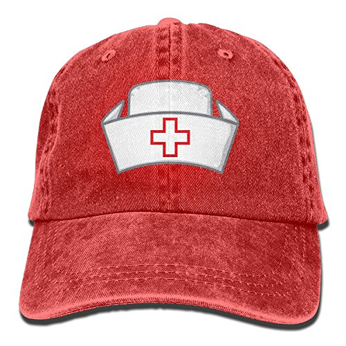 Old School Baseball Costumes Uniform (Suaop Nurses Hat Adult Vintage Washed Distressed Cotton Hat Visor Baseball Cap Polo Style)