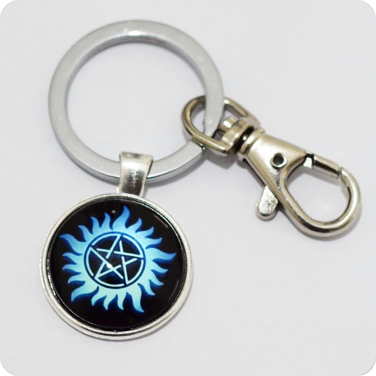 Keychain Supernatural Anti Possession Pentagram Choker Supernatural Supernatural Inspired Keychain Supernatural Keychain Pentagram Keychain