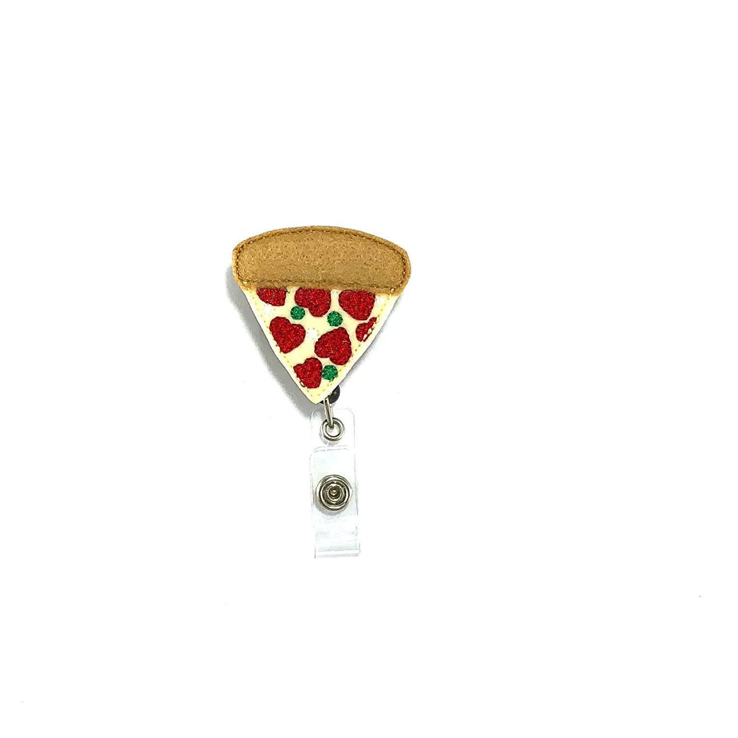 Pizza Badge Reel Clip
