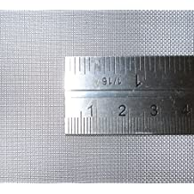 Stainless Steel Woven Wire Mesh 15cm x 15cm, 11 hole sizes / Mesh count / Aperture size. (40 Mesh) by Inoxia Ltd