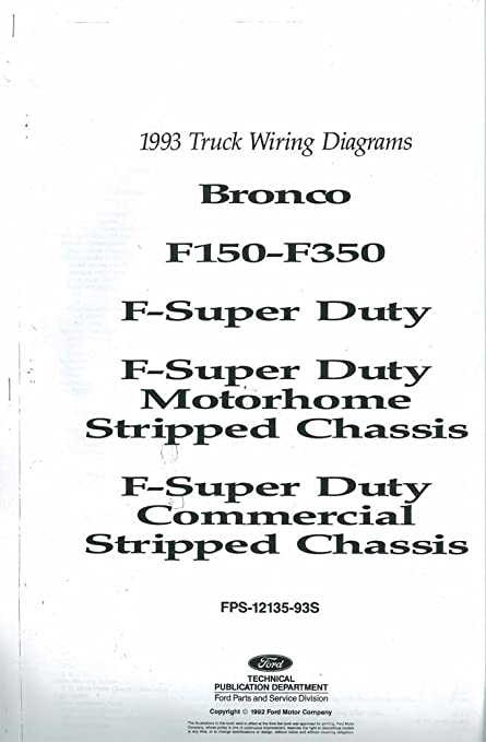 amazon com: bishko automotive literature - wiring diagrams schematics  specifications for the 1993 ford f-150 to f-350 truck bronco: automotive