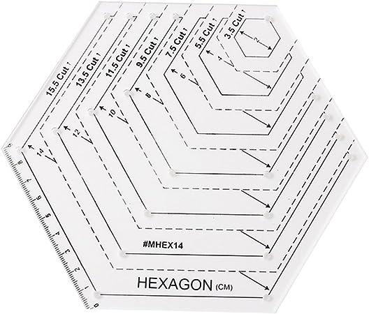 Prokth® - Regla para colchas en forma de diamante, regla hexagonal ...