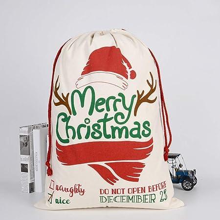 CZSM 10pc Bolsa de Navidad de Santa Saco con el cordón ...