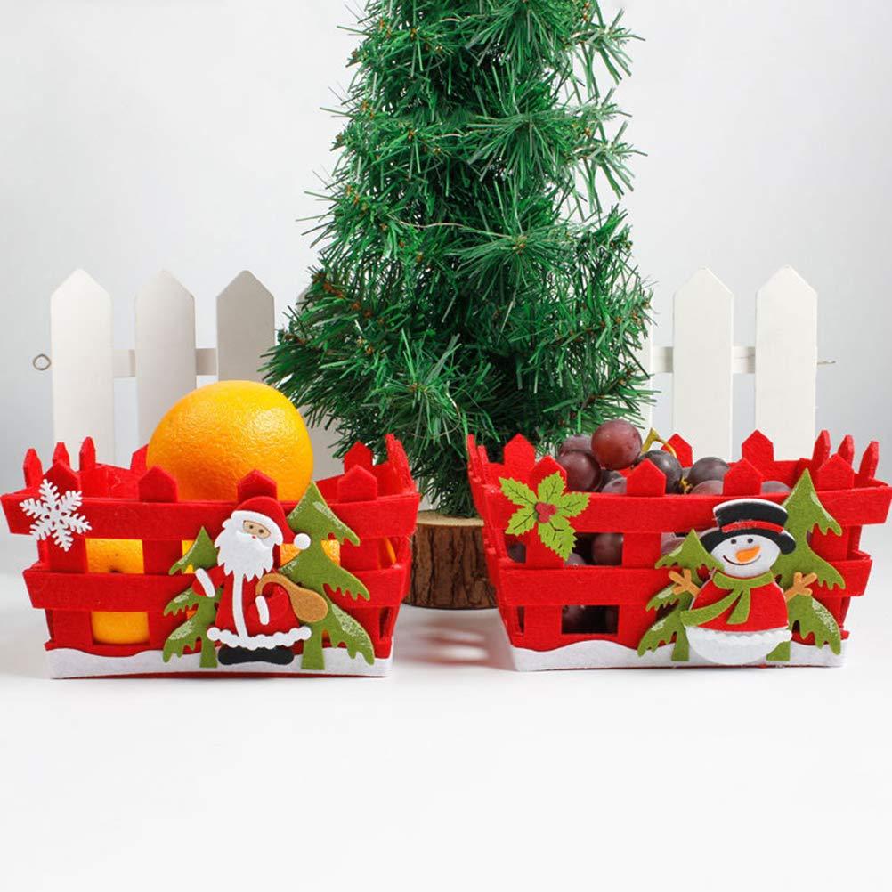 Hihey Christmas Candy Cestino portaoggetti Cestello portaoggetti Vuoto Non Tessuto Contenitore per Frutta Regali di Natale al Cioccolato