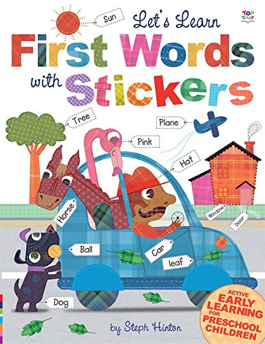 Let's Learn First Words with Stickers (Steph Hinton Sticker - Ireland Oakley Store