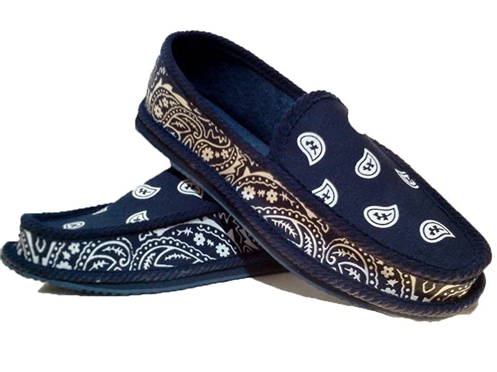 finest selection 04149 a6926 Navy Blue Bandana House Shoes Slippers Trooper Size 8 9 10 11 12 13