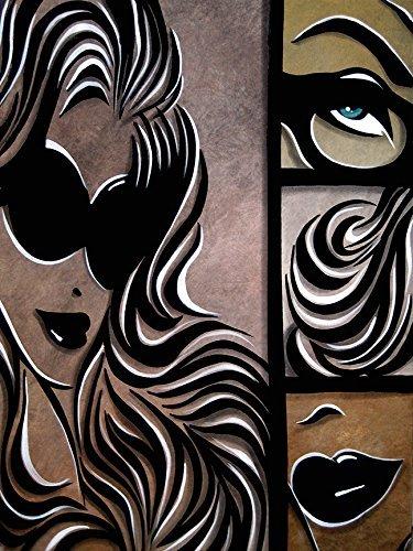 Print Poster Wall Decor Hair Lips Eyes Beauty Salon Supplies Female