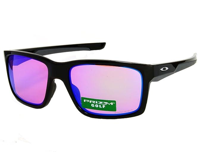 e49637fa3e Image Unavailable. Image not available for. Colour  Oakley Mainlink  OO9264-23 Shiny Black   Prizm Golf Sunglasses
