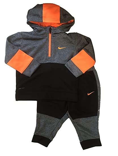 9f98337d405c Amazon.com  Nike Therma-Fit Hoodie   Jogging Pants Set (Baby Boys ...