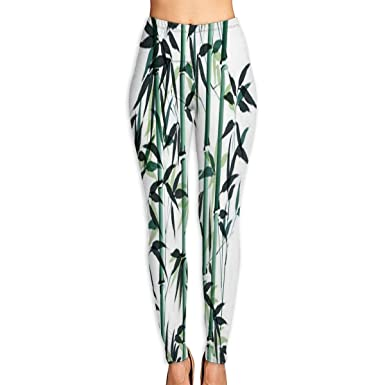 85ed95d2786ac4 Image Unavailable. Image not available for. Color: Yoga Pants Bamboo Ink  Painting Yoga Pants Leggings ...