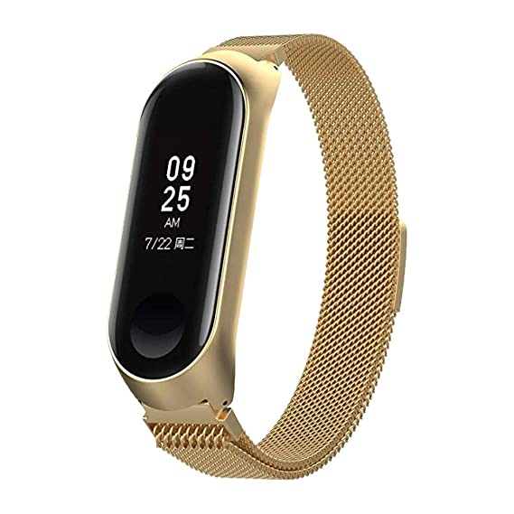 Amazon.com : for Xiaomi Mi Band 3 Metal Strap, salaheiyodd ...