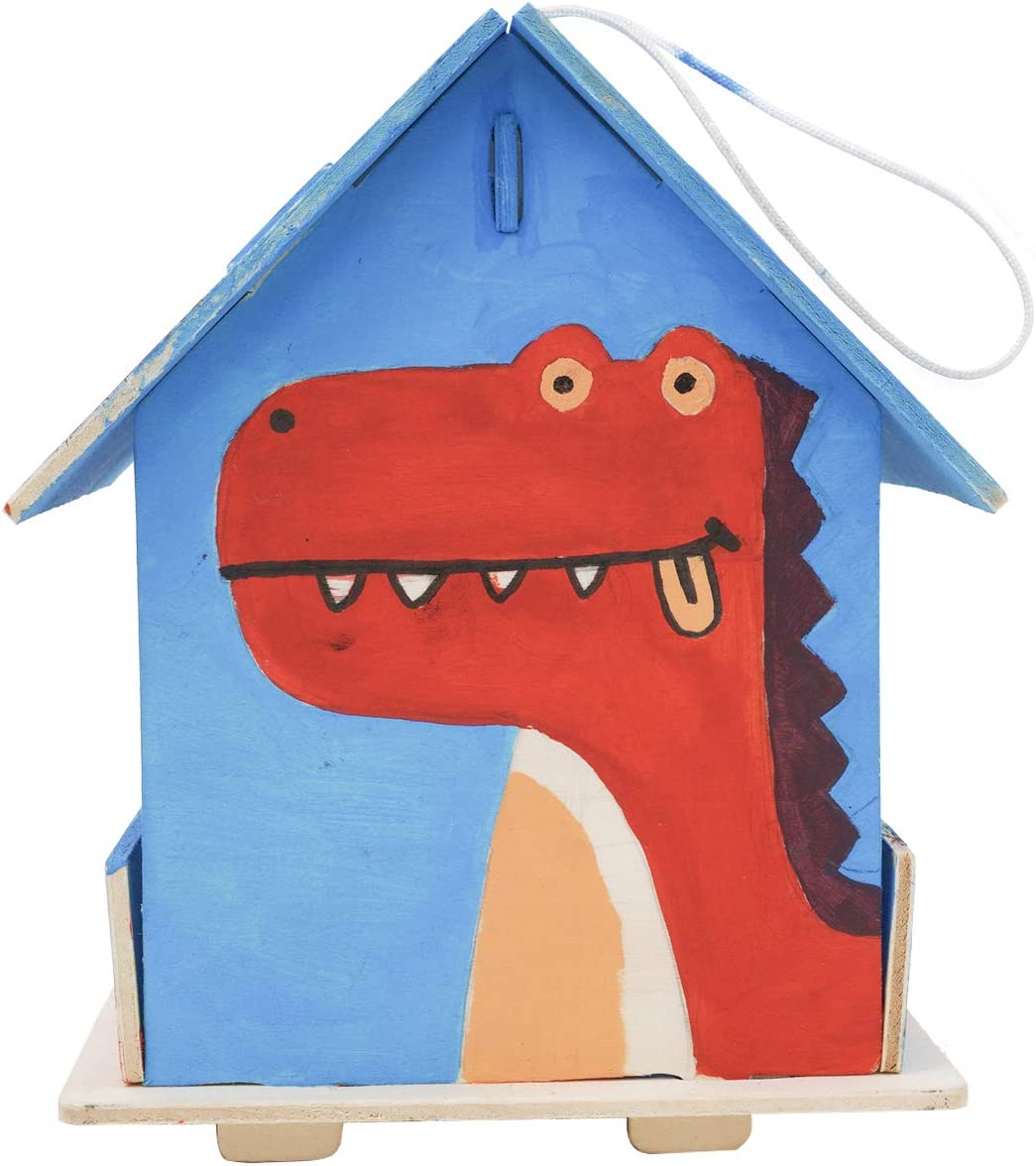 ROBOTIME Wooden Bird House Kits for Painting 3D Wooden Puzzle Grown-Up Toys for Boys and Girls Scout Activity