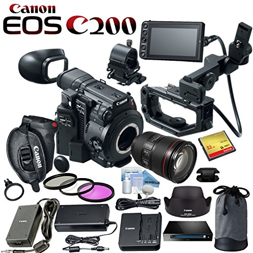 Canon EOS C200 EF Cinema Camera and 24-105mm Lens Kit with 32GB CF Card and more by Canon Bundles