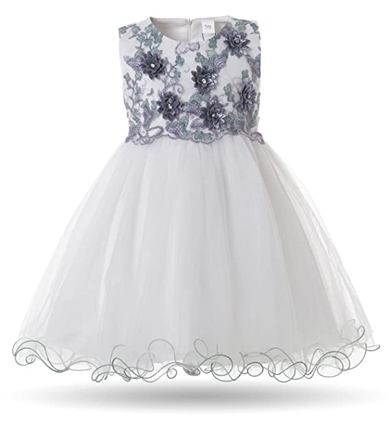 8e361dfab772 Cielarko Flower Dress for Baby Girls Sleeveless Floral Party Ball Gown  Dresses for 0-24 Months  Amazon.co.uk  Clothing