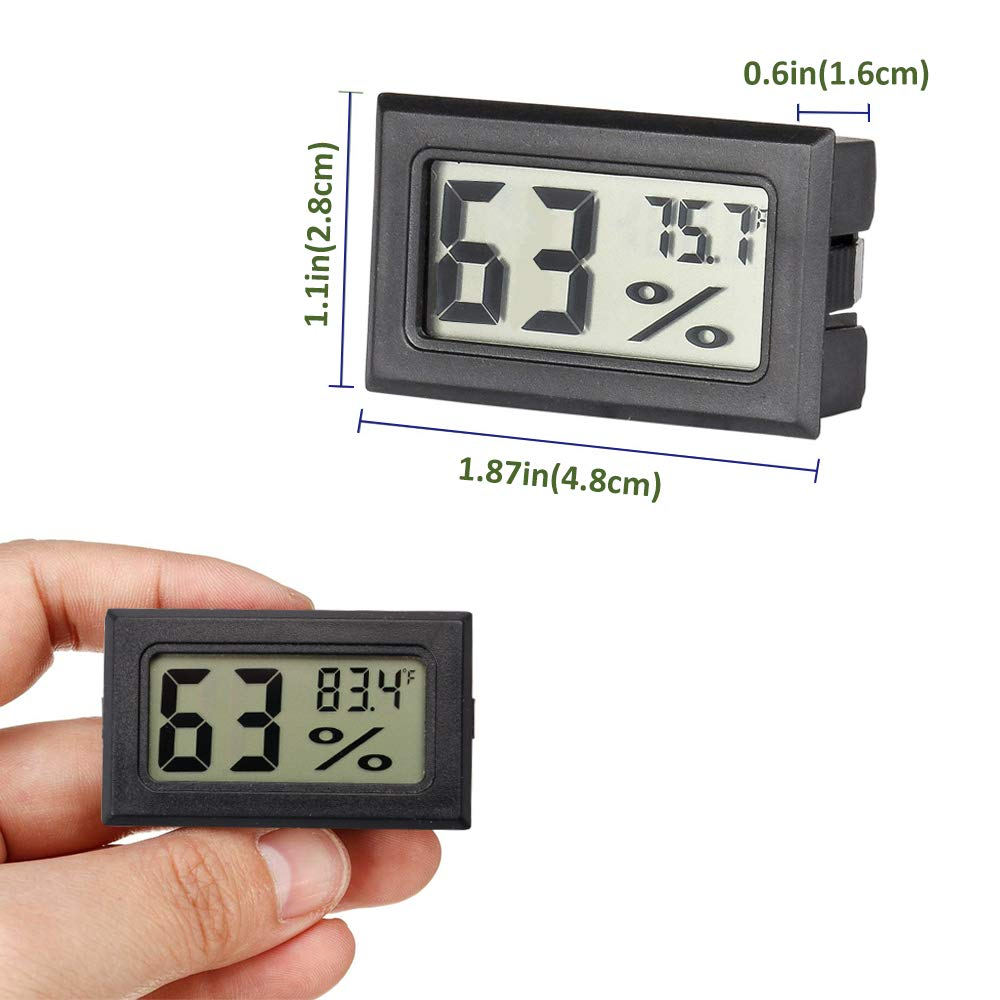 AUTIDEFY Mini Digital Electronic Temperature Humidity Meters Gauge Indoor Thermometer Hygrometer LCD Display Fahrenheit (℉) (3 Pack)