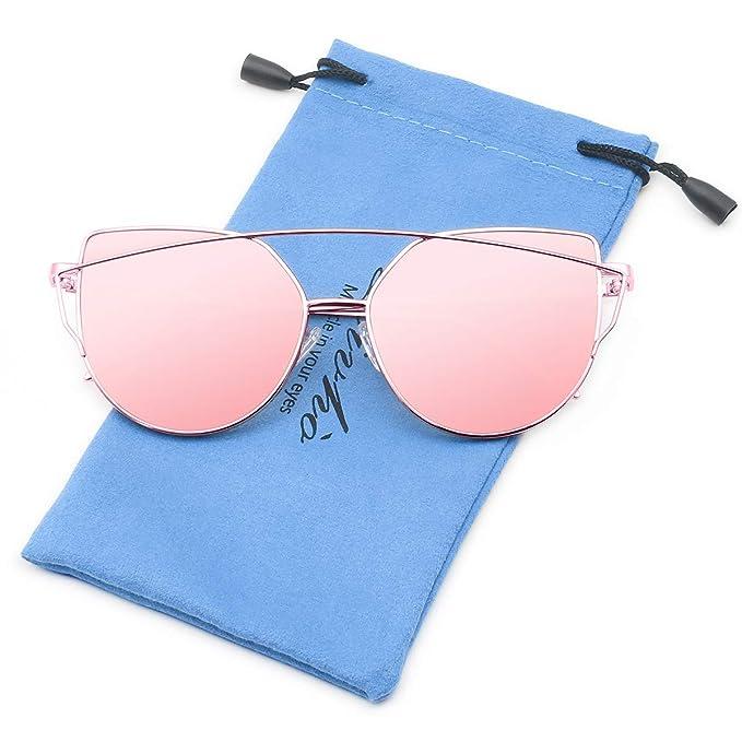 Livho Cat Eye Mirrored Sunglasses