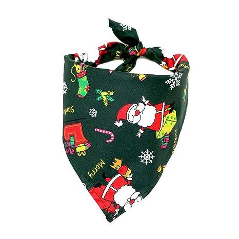 AOLVO Bandana de Navidad para Perro, Baberos Triangulares, Bufanda, Accesorios para Perros,