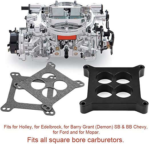 Carburetor Gasket Kit 1 Ported Phenolic Carburetor Spacer 9134 4bbl SBC BBC BB Compatible with Holley SB Chevy F-ord