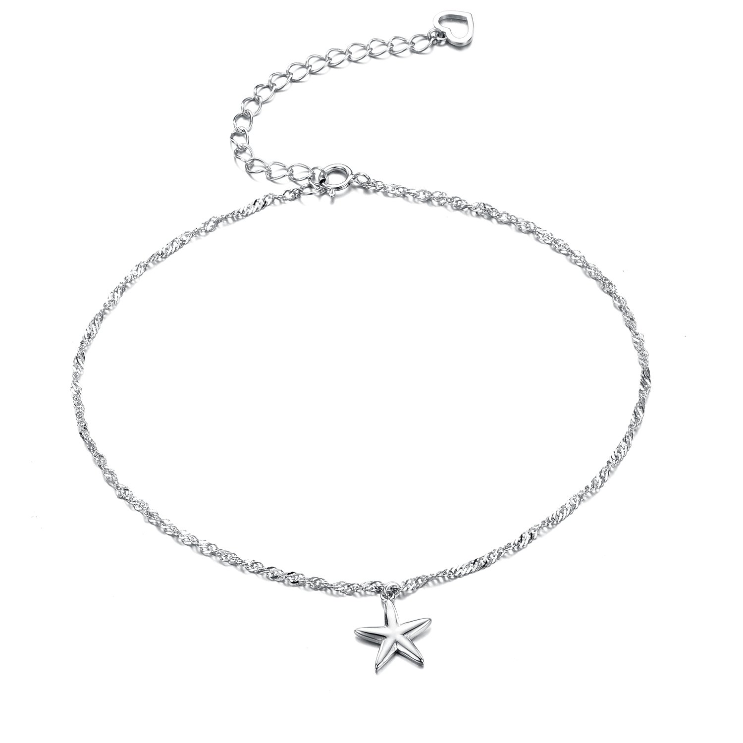 Sreema Fashionable Chain Five-Pointed Star Anklet
