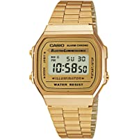 Casio Unisex Digital Dial Stainless Steel Watch - A168WG-9WDF