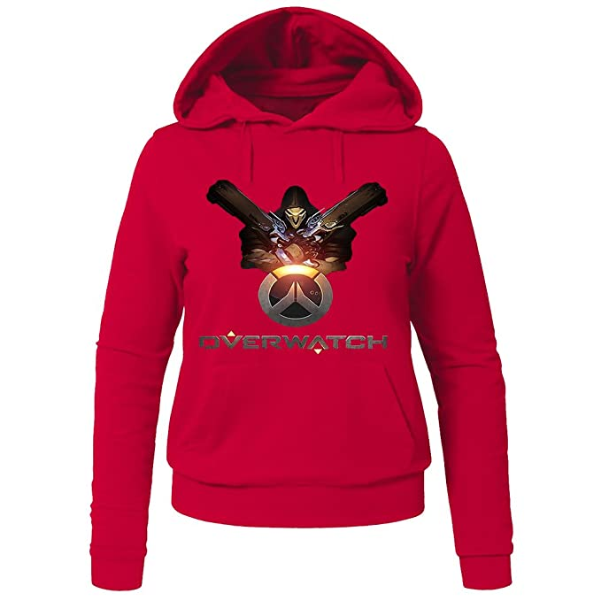 Reaper From Overwatch Hoodies - Sudadera con capucha - Mujer rojo rosso X-Large: Amazon.es: Ropa y accesorios