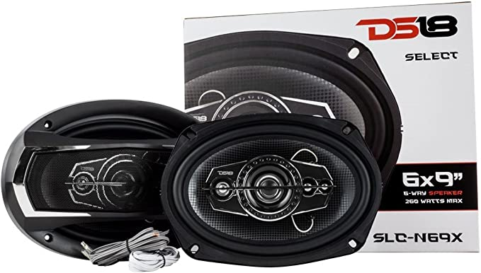 "6.5/"" 3 Way Coaxial Speaker 300W 4 ohm Car Audio Fullrange 2 Pair DS18 GEN-X6.5"