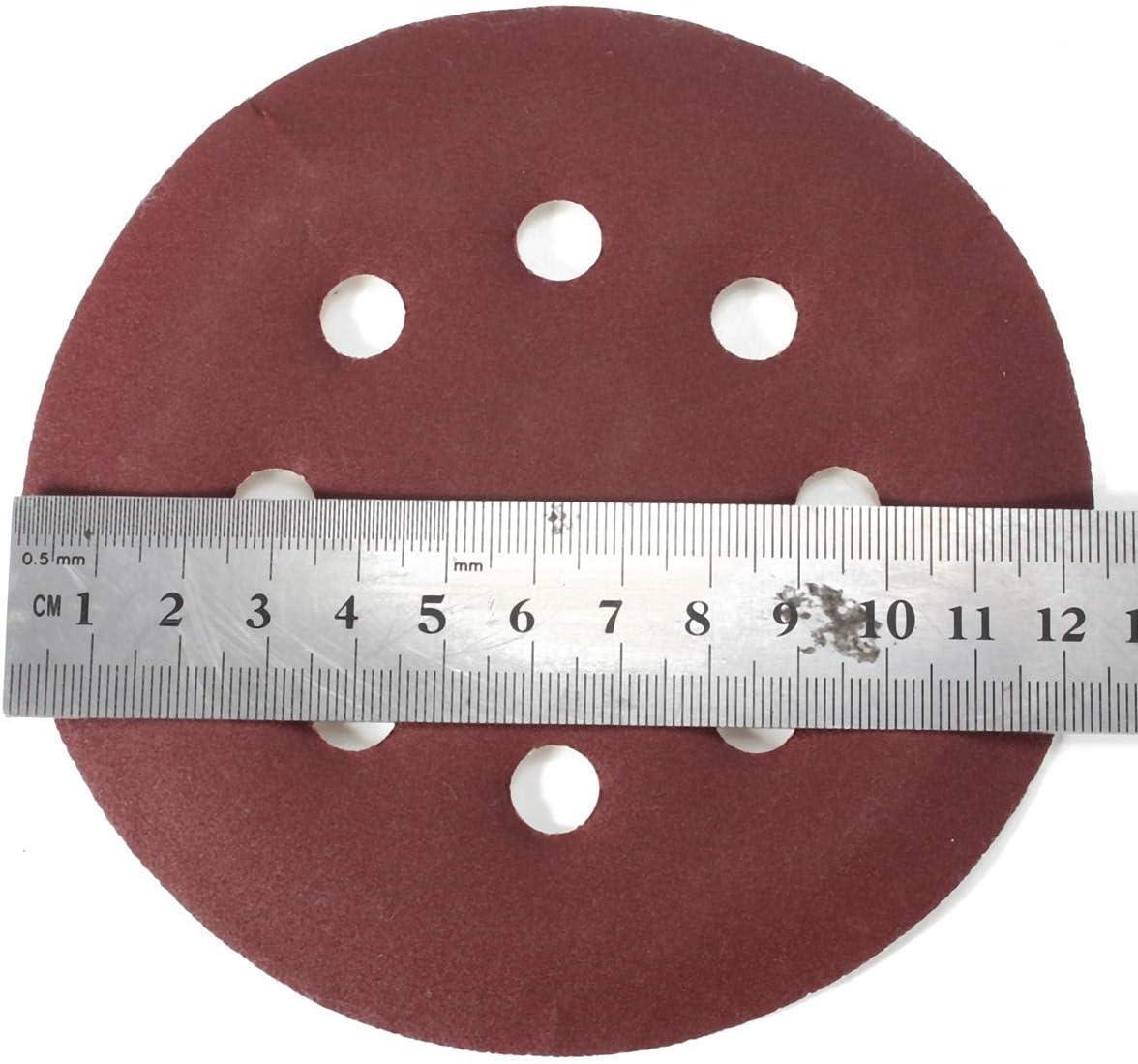 CHUNSHENN 25pcs 400 Grit 5 Incch Sanding Disc Set 8 Holes Abrasive Polishing Sandpaper Sand Sheets Grinding and Polishing Abrasive Accessories