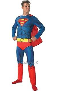 Mens Justice League Superman Hero TV Book Film Fancy Dress Costume Outfit