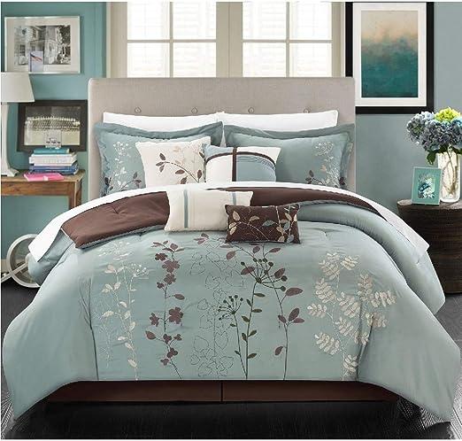 Amazon Com Hnu 8 Piece Floral Comforter Set King Oversized