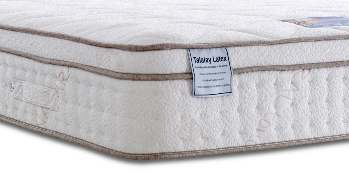 Land of Beds Tierra de Camas Tutbury 2000 Medio/Firme colchón de tensión, Doble pequeño (120 x 190 cm): Amazon.es: Hogar