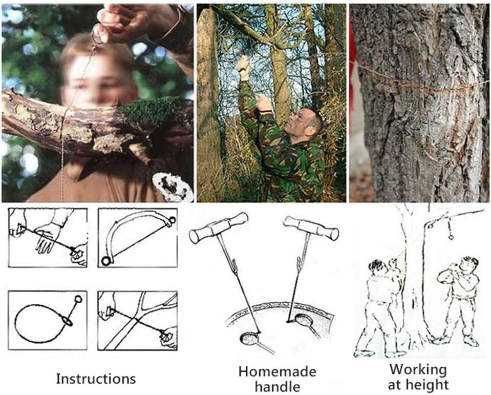 Edelstahl Draht s/äge /Überleben S/äge Seil Notfall Camping Jagd /Überleben Werkzeugkette mit Griff Linpu Handkettens/äge