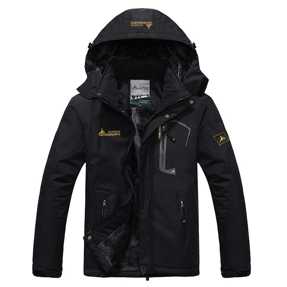 買得 Pandaie-Mens ブラック Product OUTERWEAR メンズ Large Pandaie-Mens Large ブラック B07K85PQ9D, ピュアライズ:00247f34 --- staging.aidandore.com