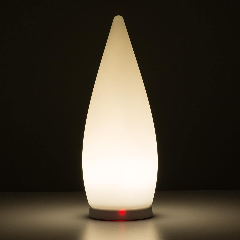 aus UV-stabilem Polyethylen kabellos Deko-Lampe 6 LEDs mit 16 Fernbedienung blumfeldt Flatlight f/ür Innen- und Au/ßenbereich LED-Lampe wassergesch/ützt nach IP65