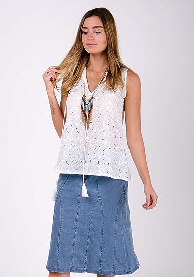 Wash Clothing Company Kim - Falda de Jean elástica Acampanada ...
