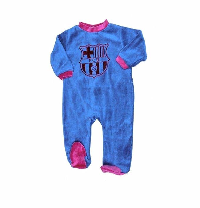 Pijama Bebé Terciopelo FC Barcelona Oficial 2017-2018: Amazon.es: Ropa y accesorios
