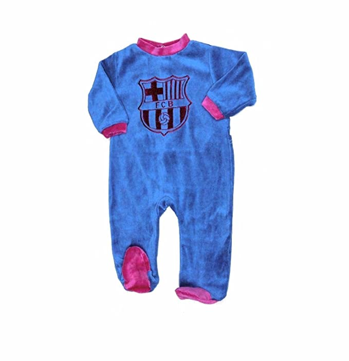 Pijama Bebé Terciopelo FC BARCELONA Oficial 2017-2018 (1 MES)
